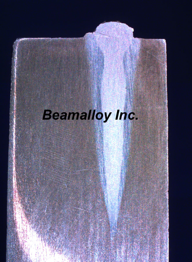 Electron beam welding low total energy