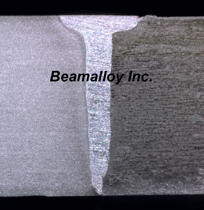 Sectioned samples at Beamalloy.